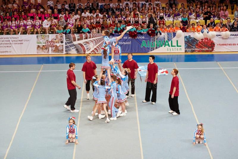 Cheerleaders Team Sharks Performs Editorial Stock Photo
