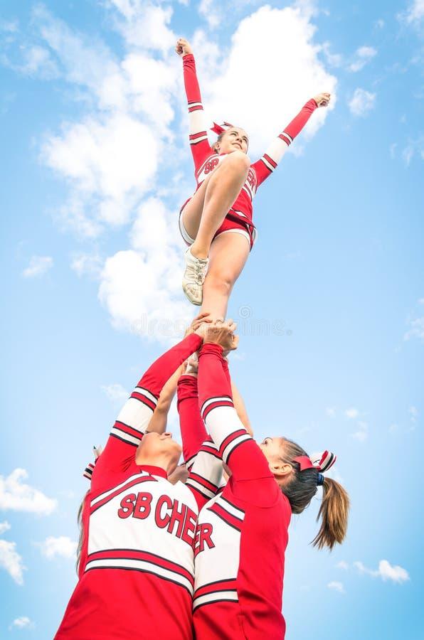 Cheerleadersteam royalty-vrije stock foto's
