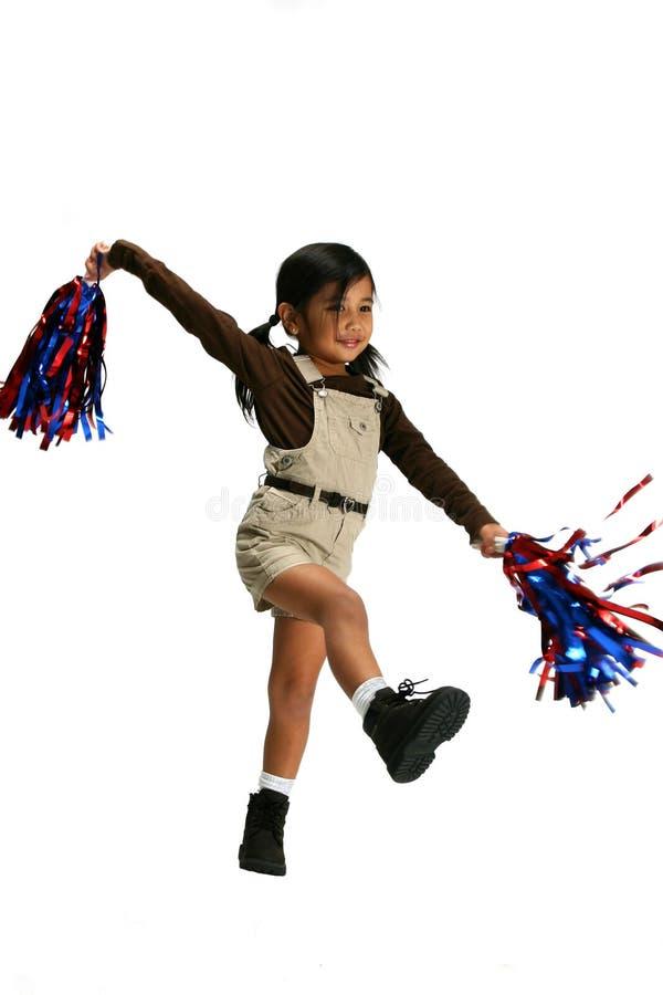 cheerleading девушка стоковые изображения rf