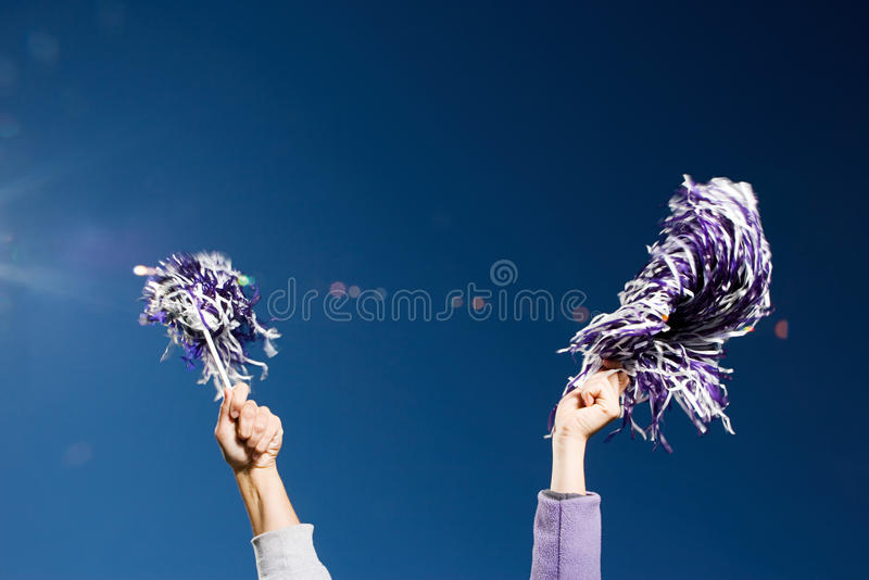 Cheerleading arkivfoto