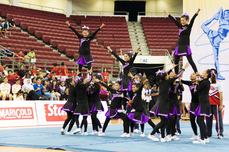 Download Cheerleading Championship Action Editorial Photo - Image: 10029016