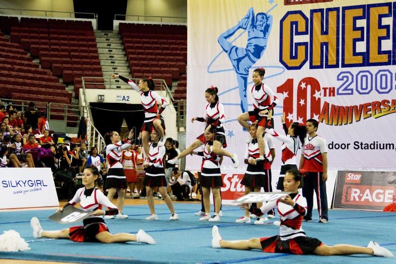 Cheerleading Championship Action stock photography