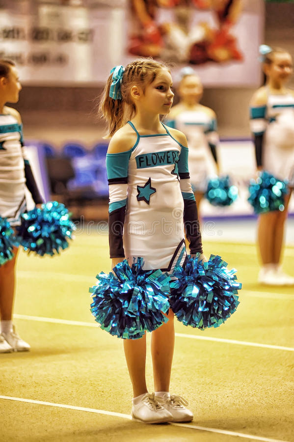 Cheerleading Championship Action royalty free stock photos