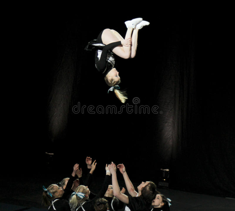 Download Cheerleading Championship Of Finland 2010 Editorial Stock Image - Image: 13185404