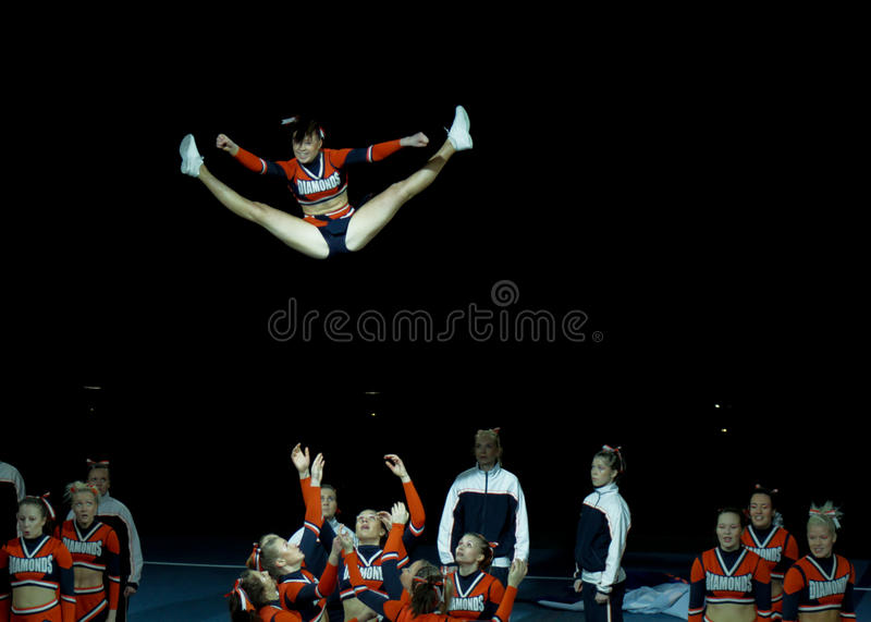 Cheerleading Championship of Finland 2010 royalty free stock images