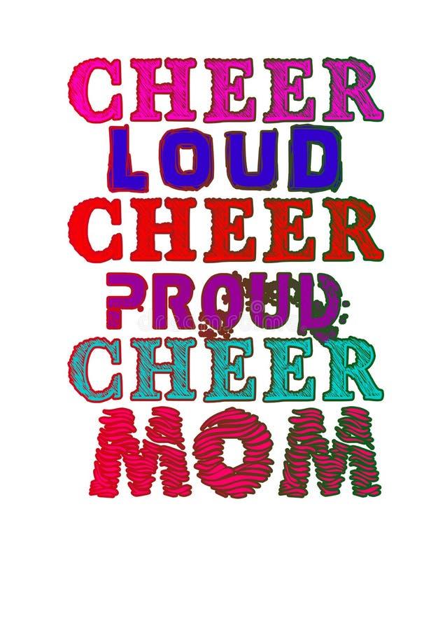 Cheerleading mama ilustracja wektor