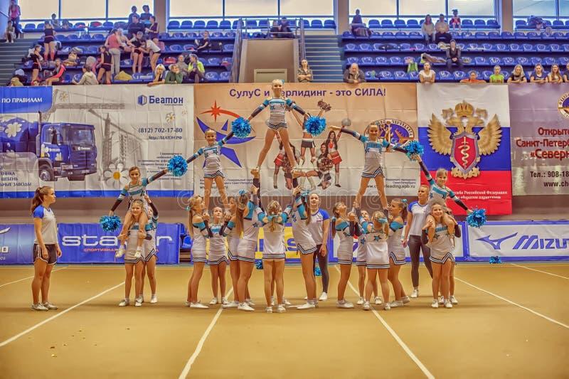 Cheerleading mistrzostwo akcja obraz royalty free
