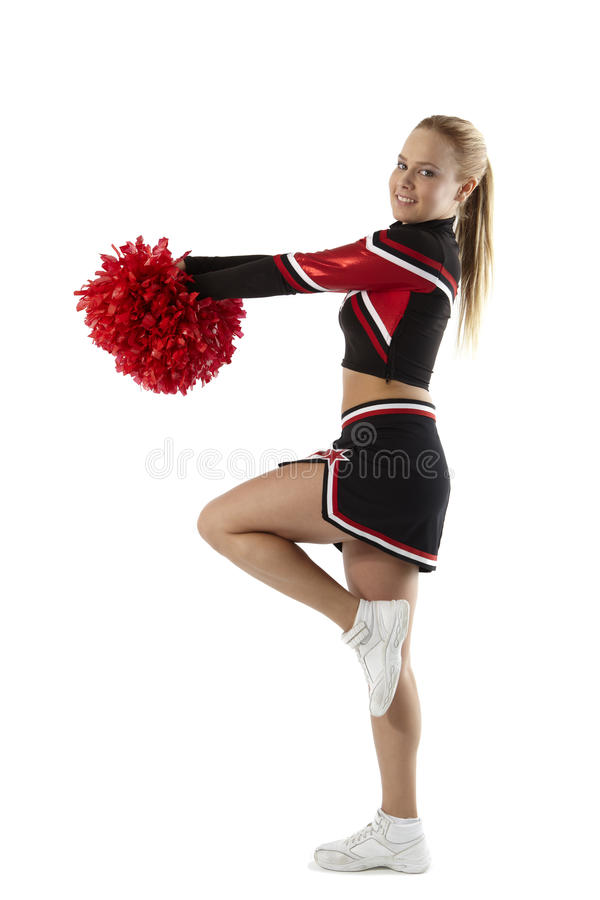 Download Cheerleading poses stock photo. Image of figure, blond - 19804358