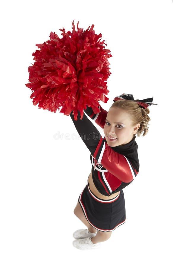 Cheerleading poza zdjęcia stock