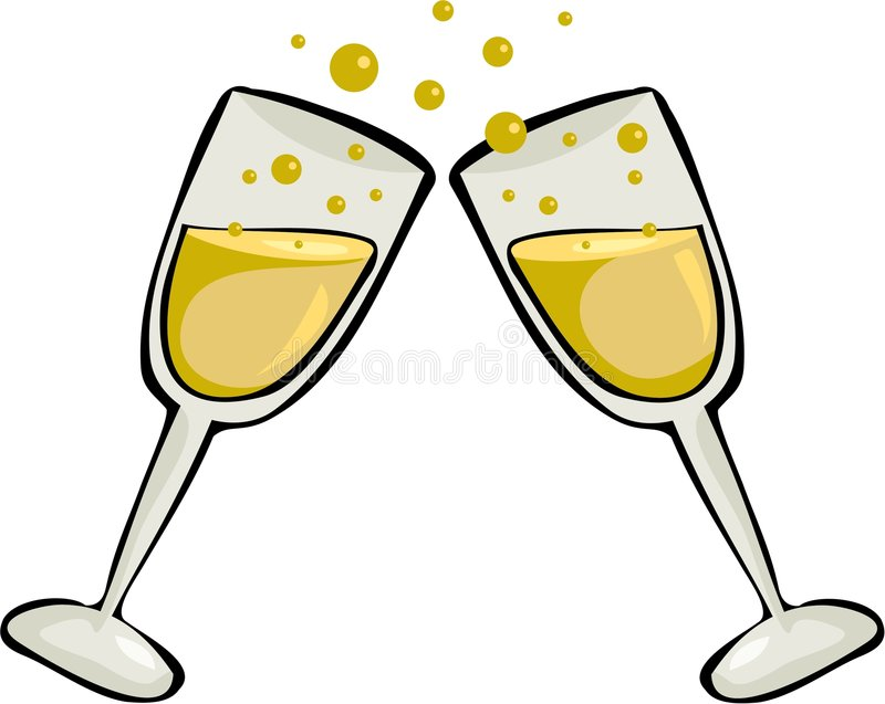Cheers stock illustration