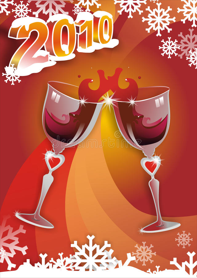 Cheers For 2010! Stock Image