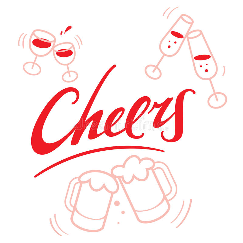 cheers illustration de vecteur