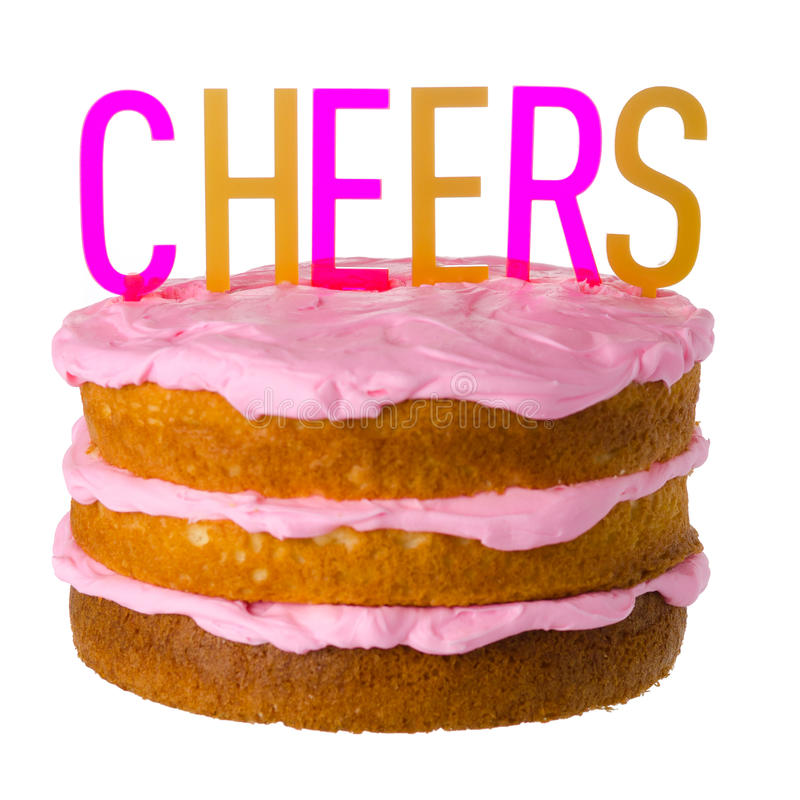 Cheers Cake sign royalty free stock photography