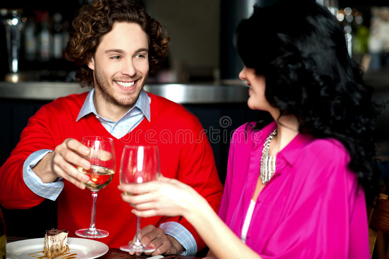 Download Cheers! Couple Celebrating Their Love Together Stock Photo - Image: 33497032