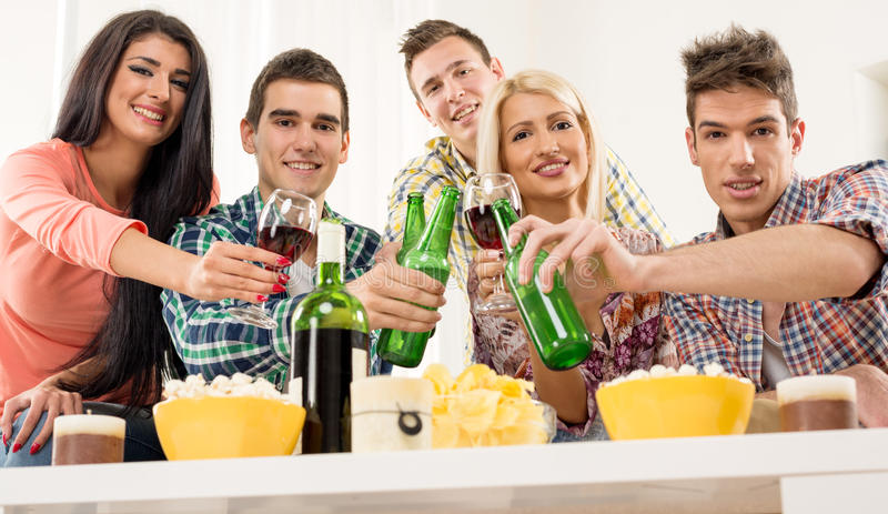 Cheers Friends stock photography