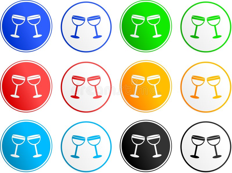 Cheers sign icons royalty free illustration