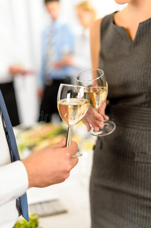 Cheers to business successful cooperation royalty free stock photos