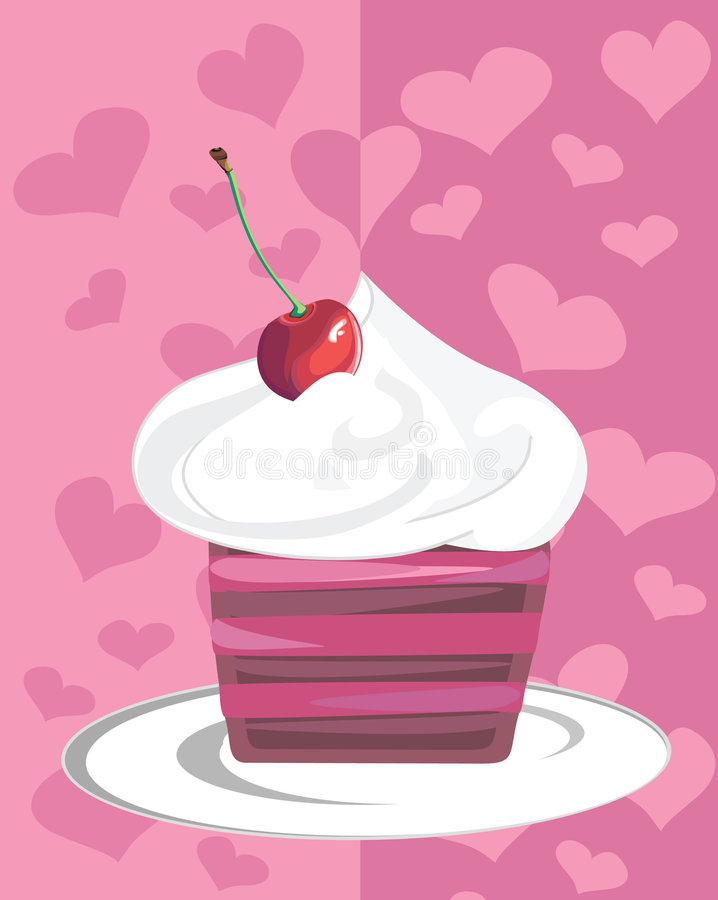 Download Cheery cupcake stock vector. Image of dessert, delicious - 5281436