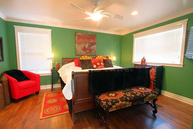 cheery färgrikt för sovrum royaltyfri bild