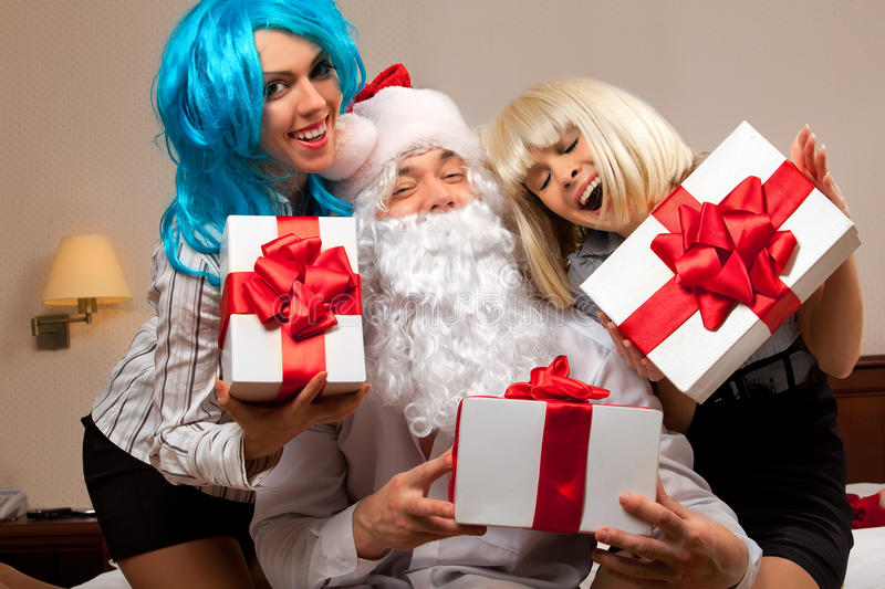 Cheery party stock image