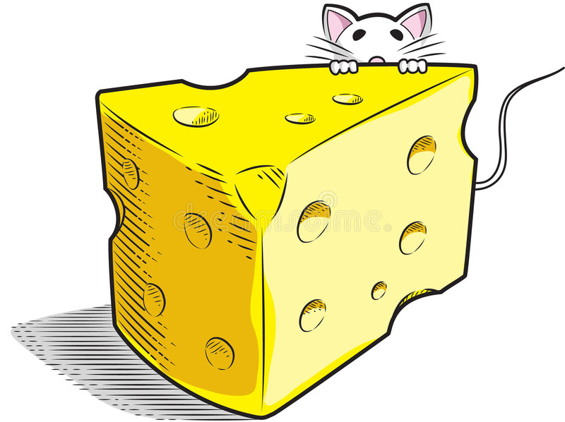 Download Cheese stock vector. Image of mouse, hole, dairy, line - 6679121