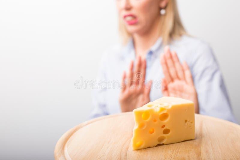 Cheese allergies stock photo
