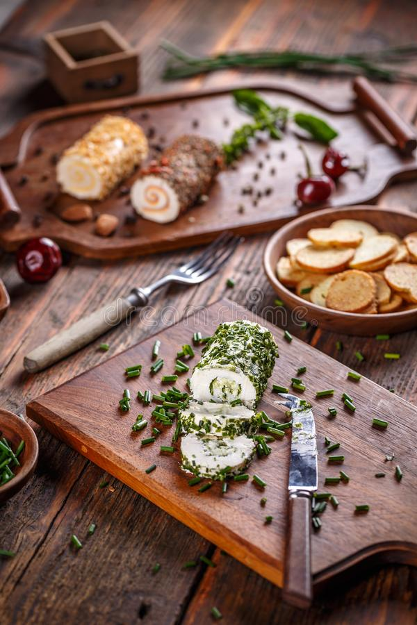 Cheese appetizer stock images