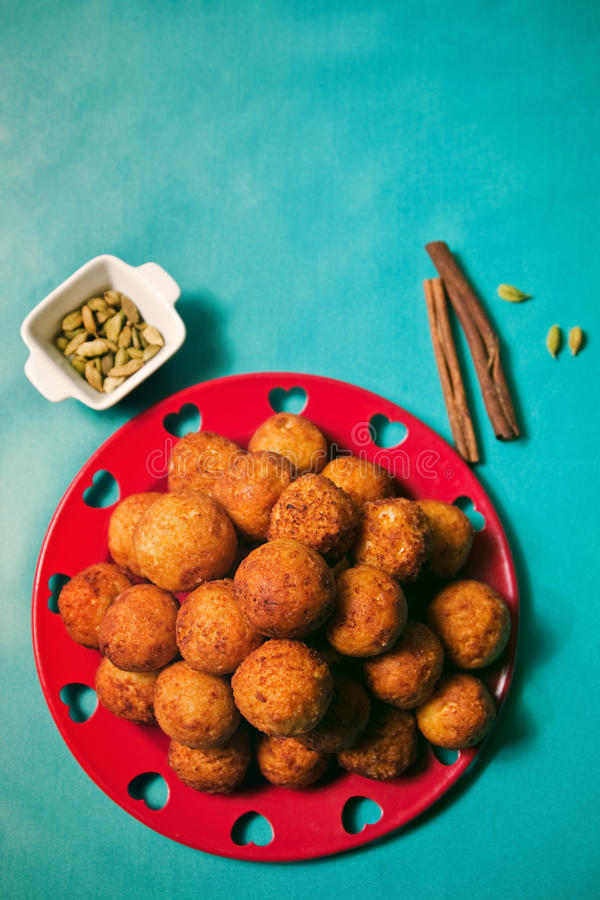 Download Cheese balls top view stock image. Image of dessert, bowl - 28621651