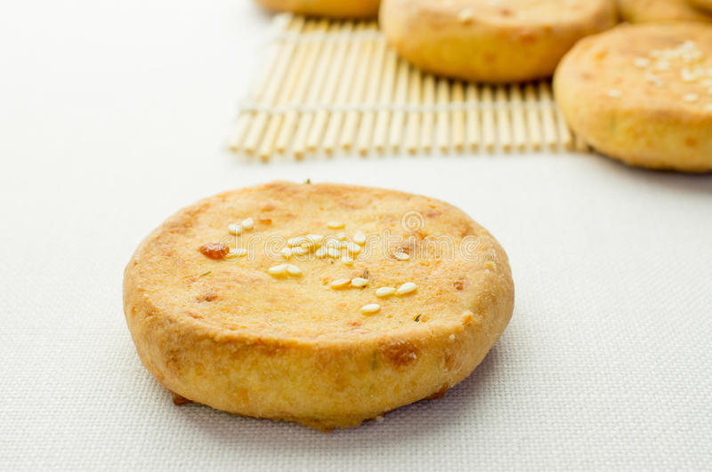 Cheese biscuits, mini pizza royalty free stock images