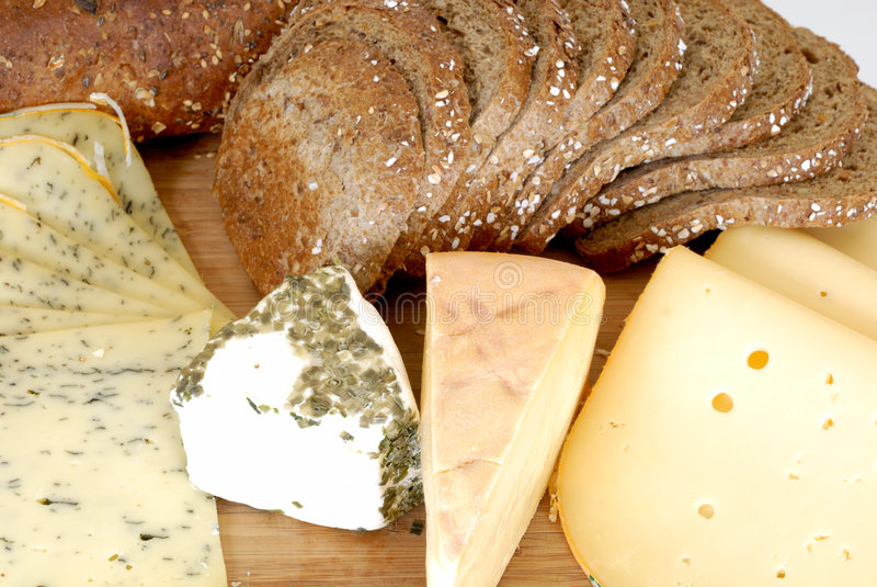 Cheese board and bread