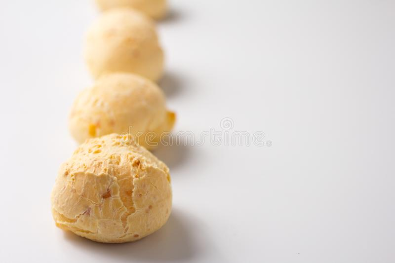 Pao de Queijo is a cheese bread ball from Brazil. Also known as royalty free stock image
