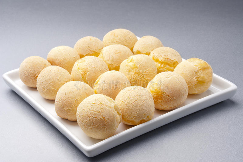 Cheese bread platter royalty free stock photos