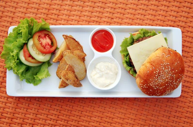Cheese Burger Stock Photos