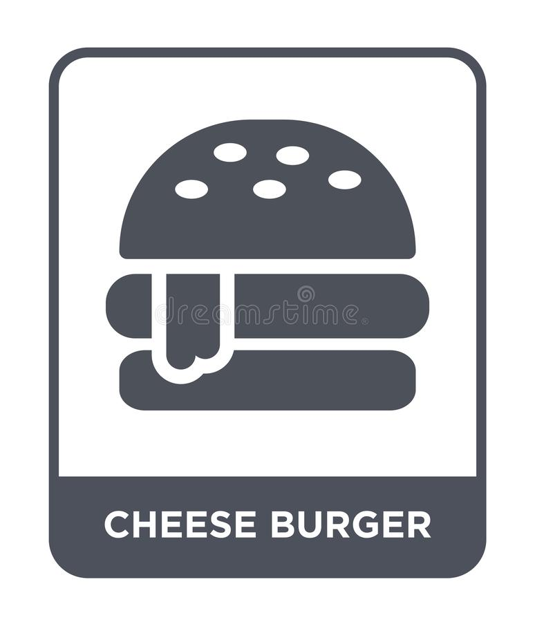 cheese burger icon in trendy design style. cheese burger icon isolated on white background. cheese burger vector icon simple and royalty free illustration