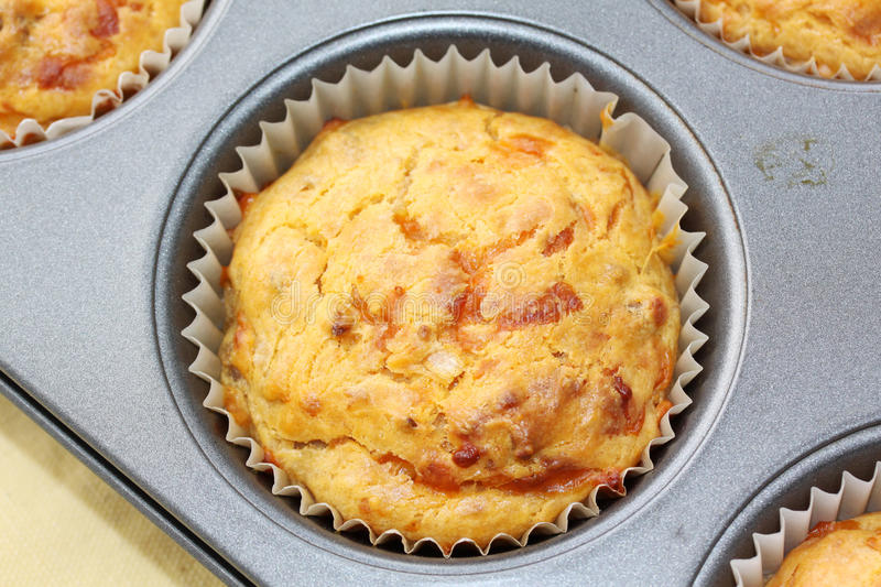 Cheese burger muffins royalty free stock image