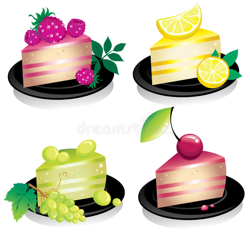 Download Cheese Cake With Fruits And Berries Stock Vector - Illustration of jelly, berry: 10118119