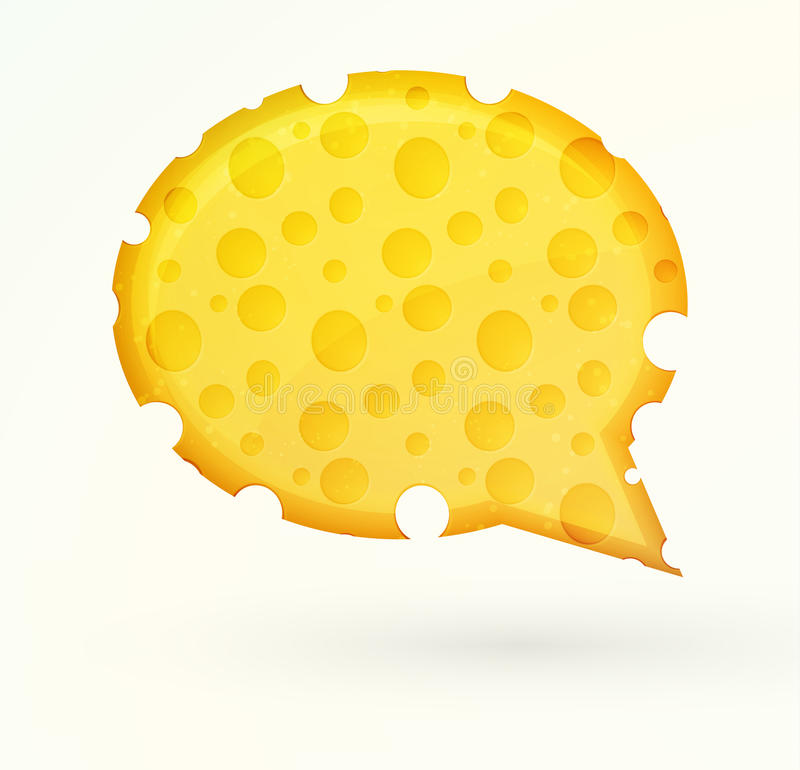 Cheese chat bubble stock illustration
