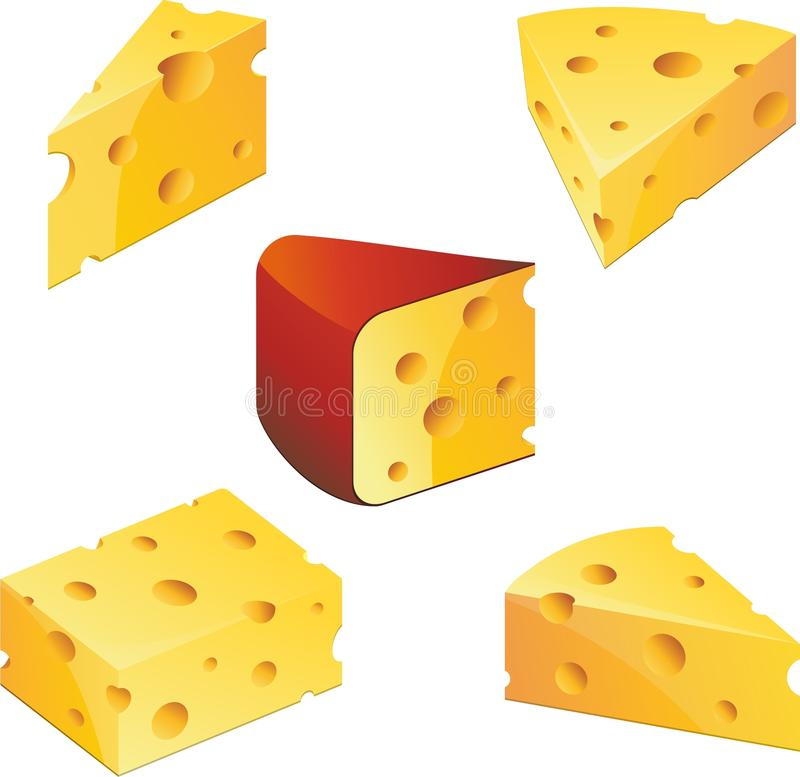 Cheese collection royalty free illustration