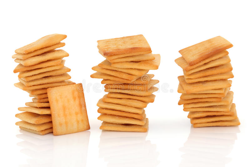 Cheese Cracker Biscuits royalty free stock photos