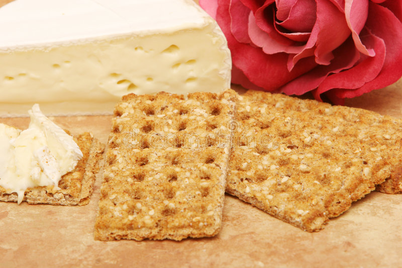 Download Cheese and crackers stock photo. Image of cracker, flower - 2305806