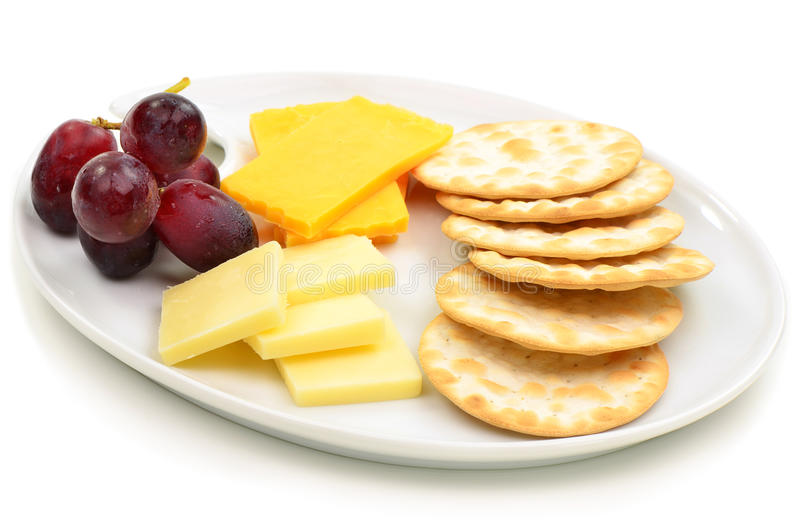 Download Cheese and crackers stock photo. Image of white, plate - 30674622