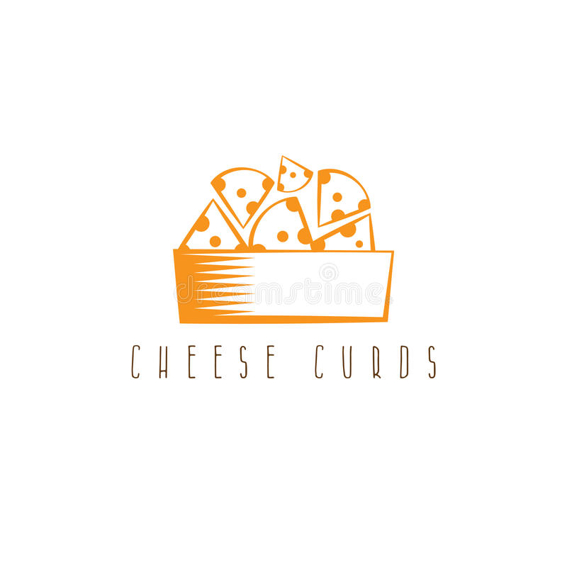 Cheese curds in bowl vector design stock illustration