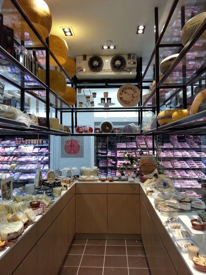 Cheese display royalty free stock photo
