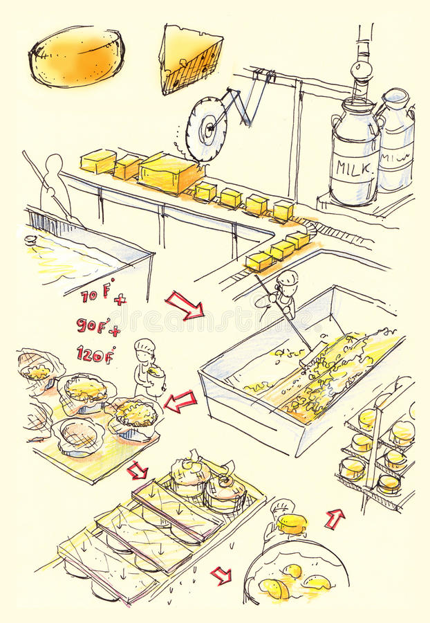 Download Cheese Factory Illustration Stock Illustration - Image: 28552374