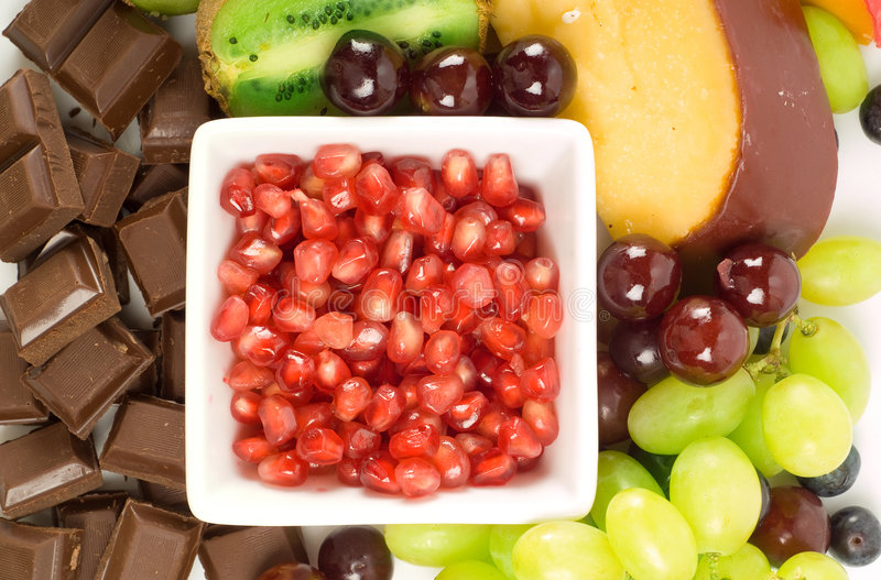 Download Cheese and fruit platter stock image. Image of tomatoe - 7642971