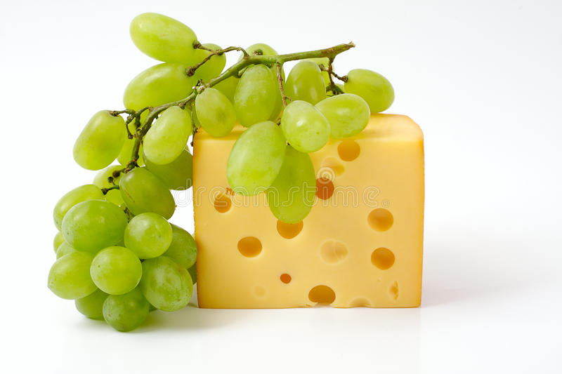 Download Cheese and grapes stock image. Image of healthy, horizontal - 19846823