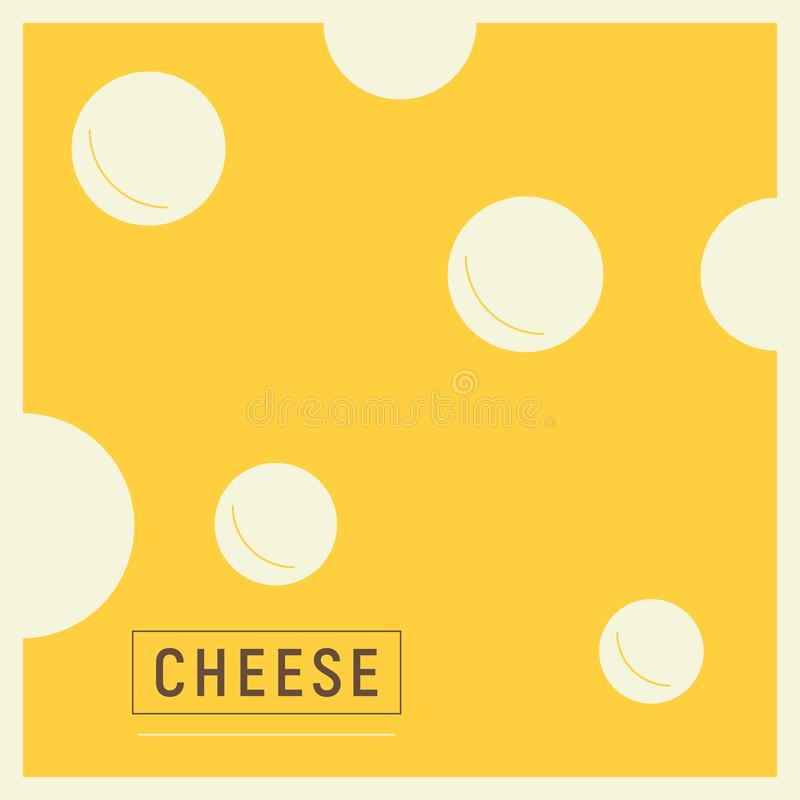 Cheese with Holes vector illustration