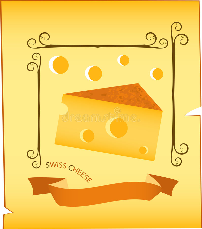 Cheese illustration royalty free stock images