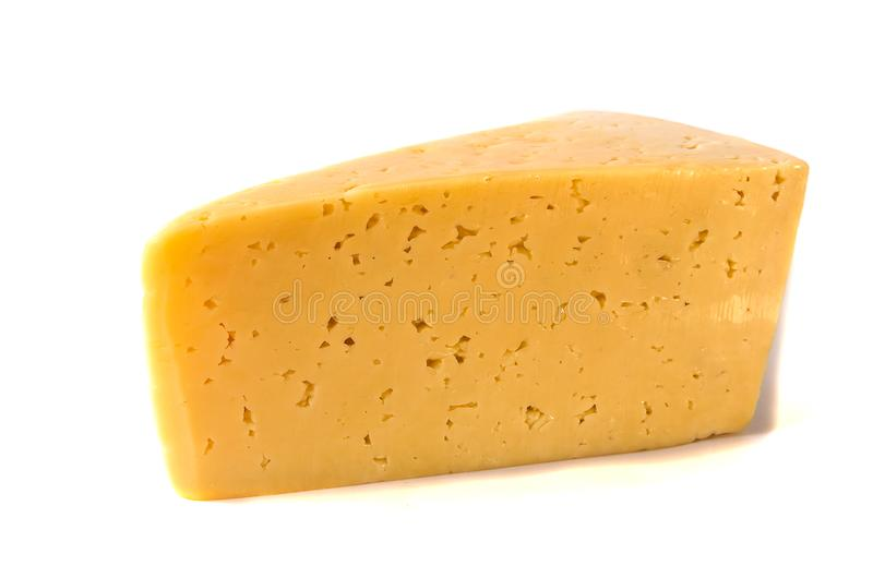 Cheese isolated on white background stock photo