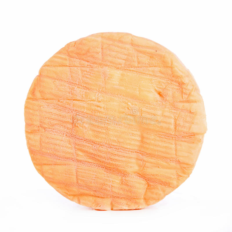 Cheese isolated on white stock photography